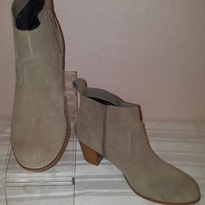 Dolce Vita Tan Suede Leather Western Style Booties